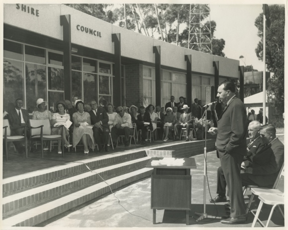 1967 opening of Council chambers