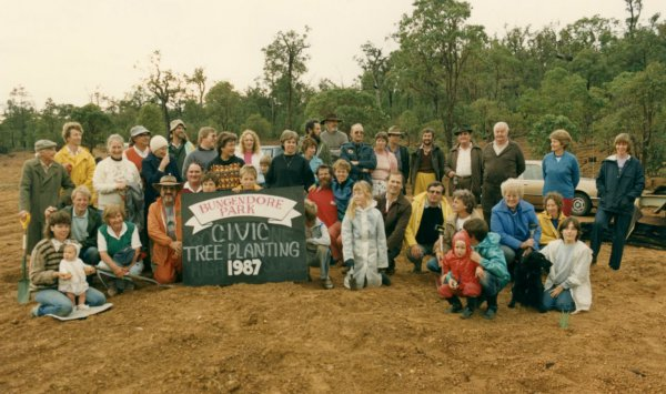 Civic tree planting 1988 at Bungendore Park