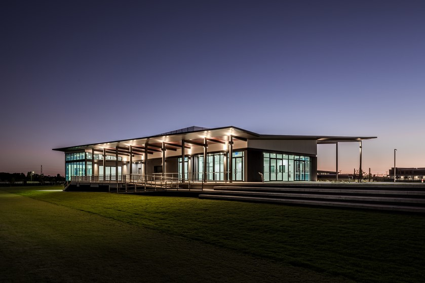 Building Exterior at Night