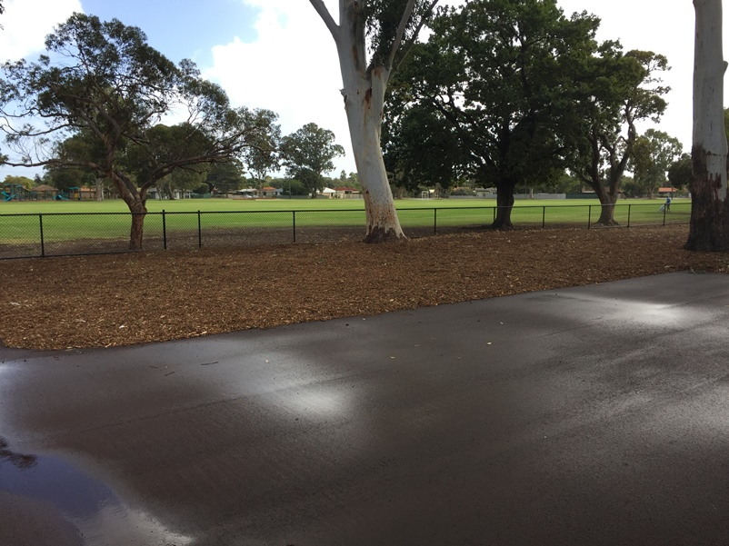 View from facility to oval