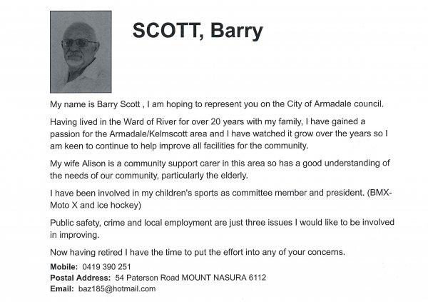 Barry Scott - River ward