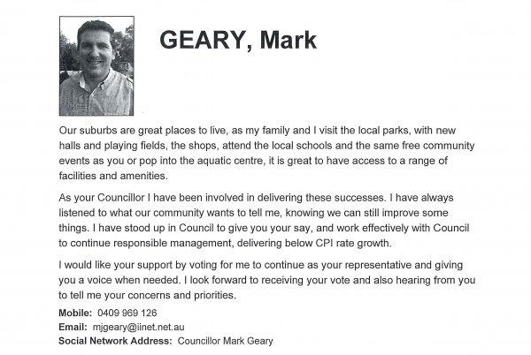 Mark Geary - Ranford ward