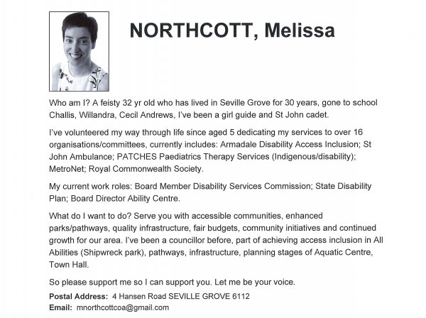 Melissa Northcott - Palomino ward
