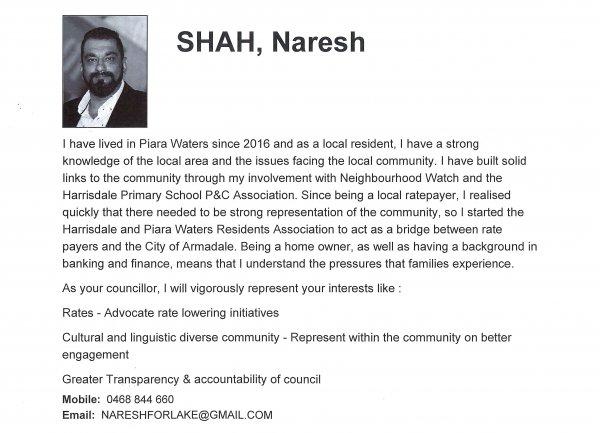 Naresh Shah - Lake ward