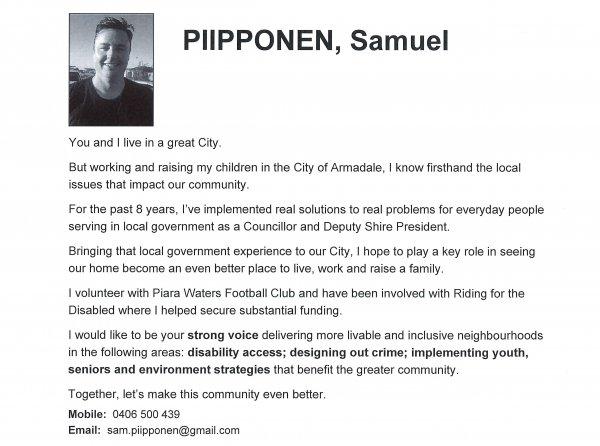 Samuel Piipponen - Lake ward