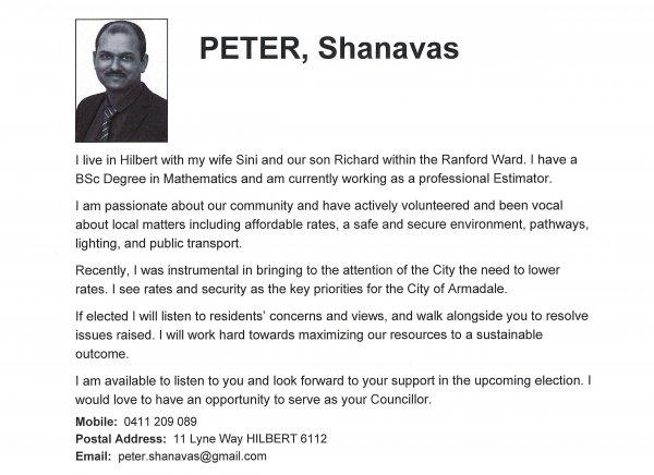 Shanavas Peter - Ranford ward
