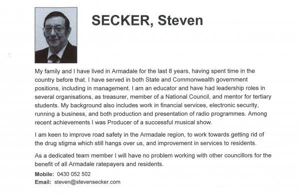 Steven Secker, Heron ward