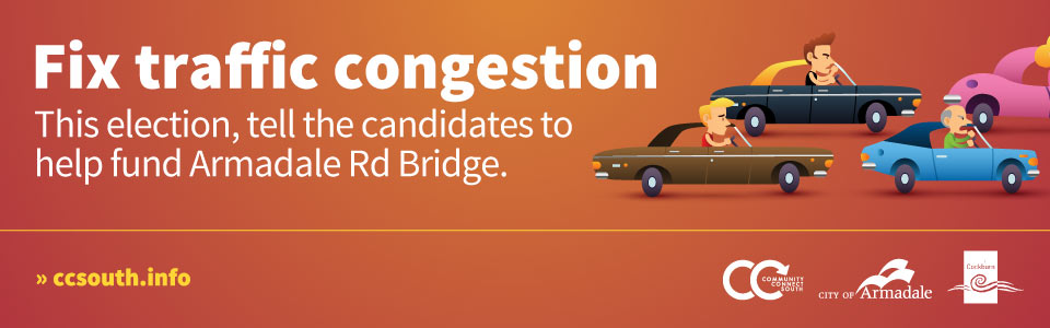 Finish the job, build Armadale Rd Bridge