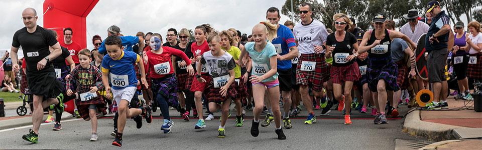 Perth Kilt Run 2018 start off image