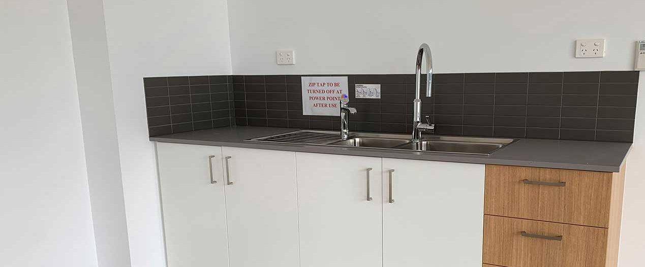 Multi-purpose room kitchenette