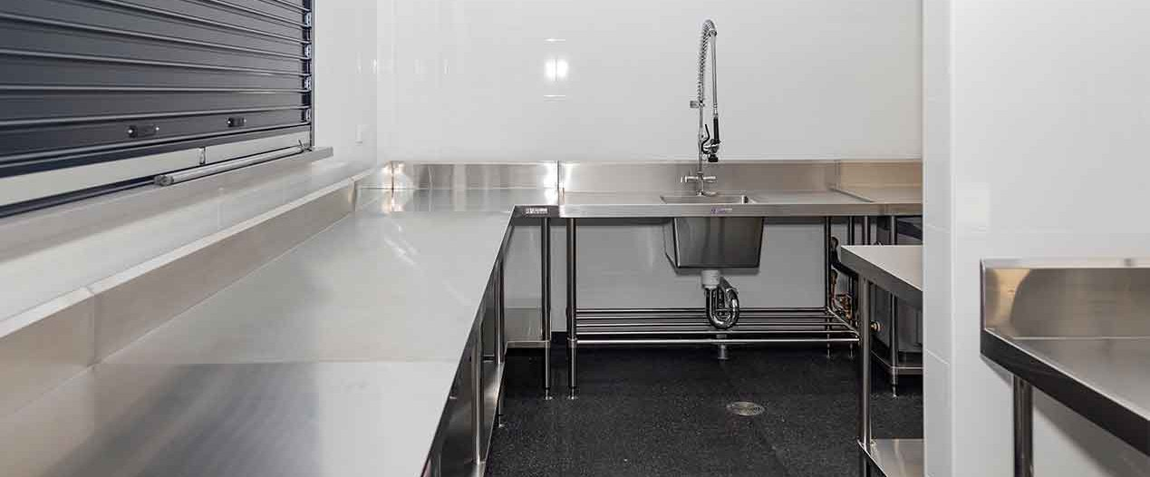 Kitchen with servery