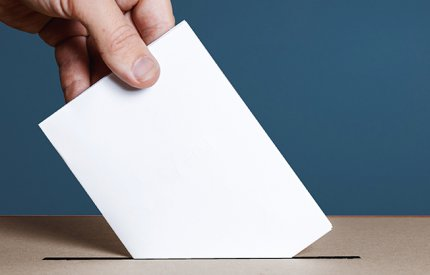 Picture of ballot paper in box