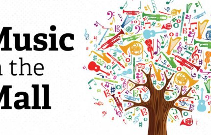 Music in the Mall branding