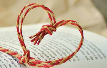 Novel and heart decoration