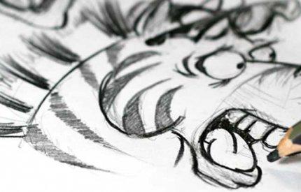 pencil cartooning