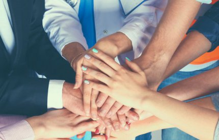 Health Workers, Working Together (Hands Together)