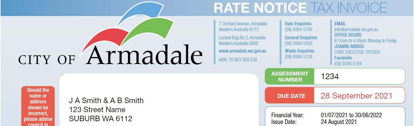 Rate notice image