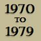 1970 to 1979 timeline